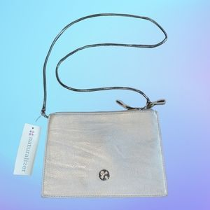 Naturalizer Sun Silver Brown Clutch with Strap